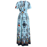 Voluptuous Butterfly Printed Side Split Dress
