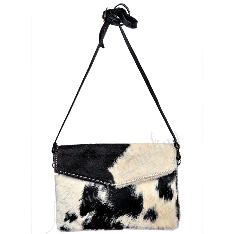 Jessie Black/Brown Pony Hair Clutch