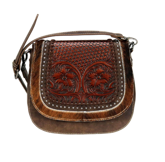 Montana West Leather Saddle Bag Coffee