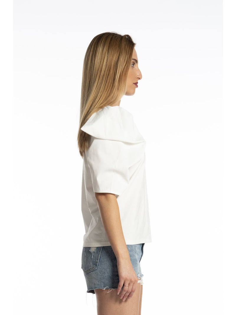 Eden Puff Shoulder Top White