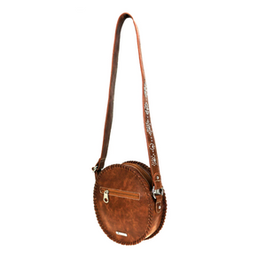 Montana West Circle Bling Crossbody Brown
