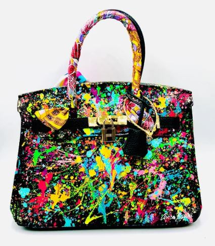 Custom Leather Bag Color Abstract 30 cm