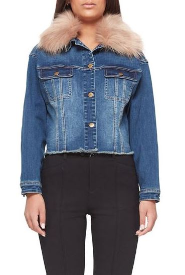 Brooklyn Denim Faux Fur Jacket