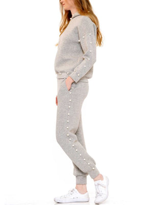 Legend Jogger Suit Set Grey Pearl