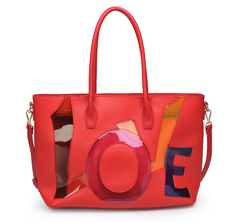 LOVE Tote Red