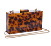 Margot Acrylic Clutch Leopard