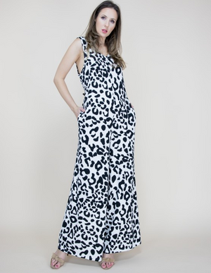 Arizona Leopard White Jumpsuit