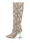 Jeffrey Campbell Entity Beige/Black/Blue Snake