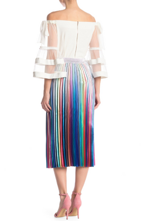 Pleated Rainbow Skirt