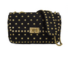 Quilted Stud Crossbody Black