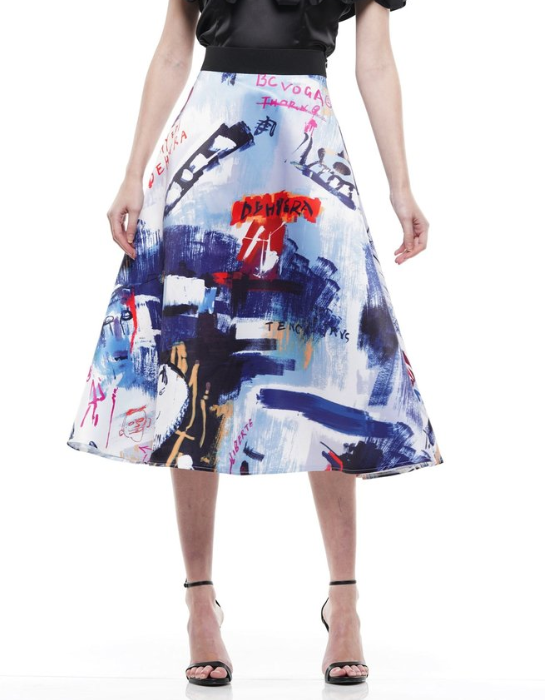 Graphic Flare Skirt