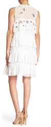 Sadie Ruffle Dress Ivory Multi