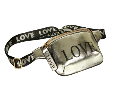 Love Fanny Pack Silver