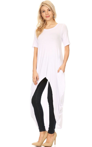 High-Low Tunic White
