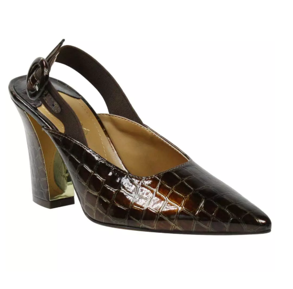 J. Renee Marianela Dark Brown Croco