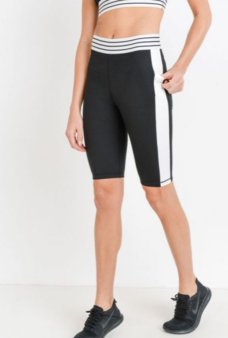 Bike Short Black/White