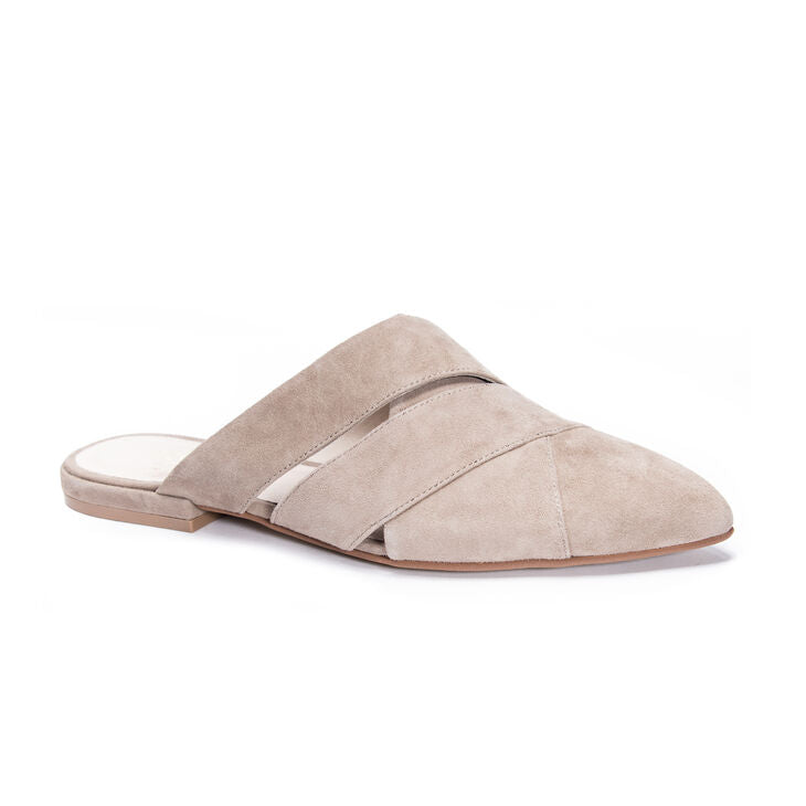 42 Gold Carra Silver Taupe Suede