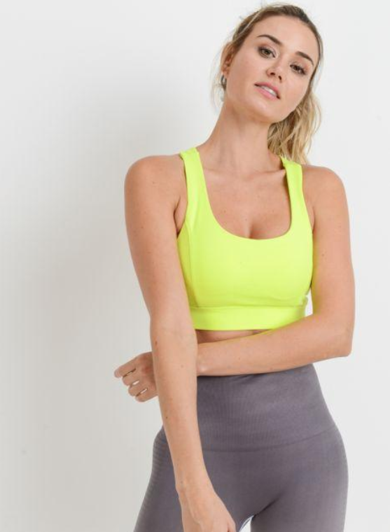 Neon Yellow Sports Bra