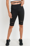 Black Mesh Bike Short