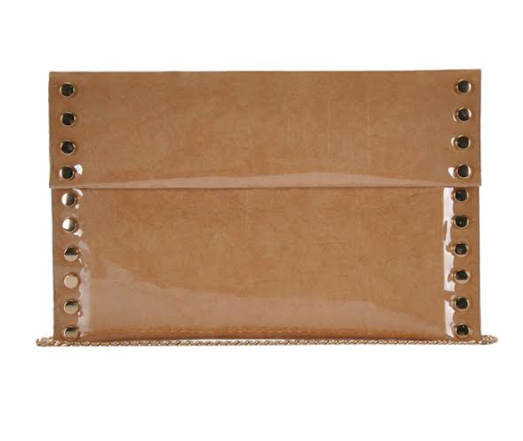 Large Envelope Clutch Beige