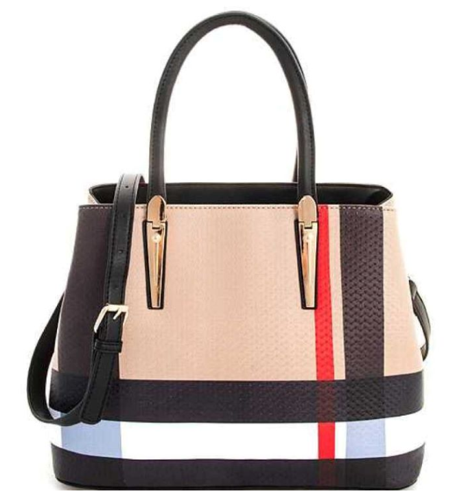 Burberry Inspired 3-in-1 Tote Black