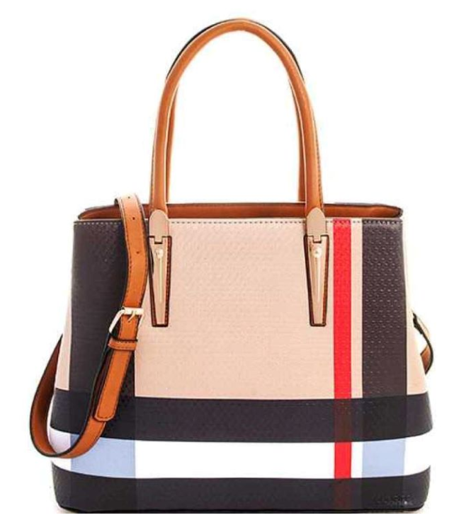 Burberry Inspired 3-in-1 Tote Tan