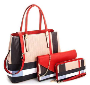 Burberry Inspired 3-in-1 Tote Red