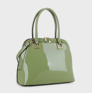 Paige Tote Green Patent