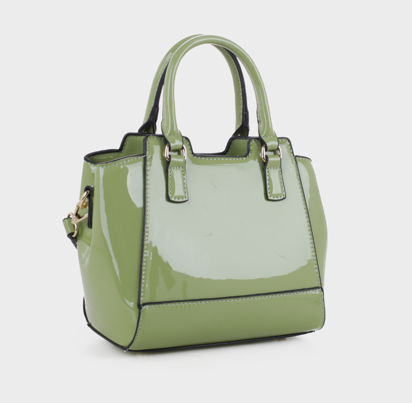 Leslie Mini Tote Green Patent