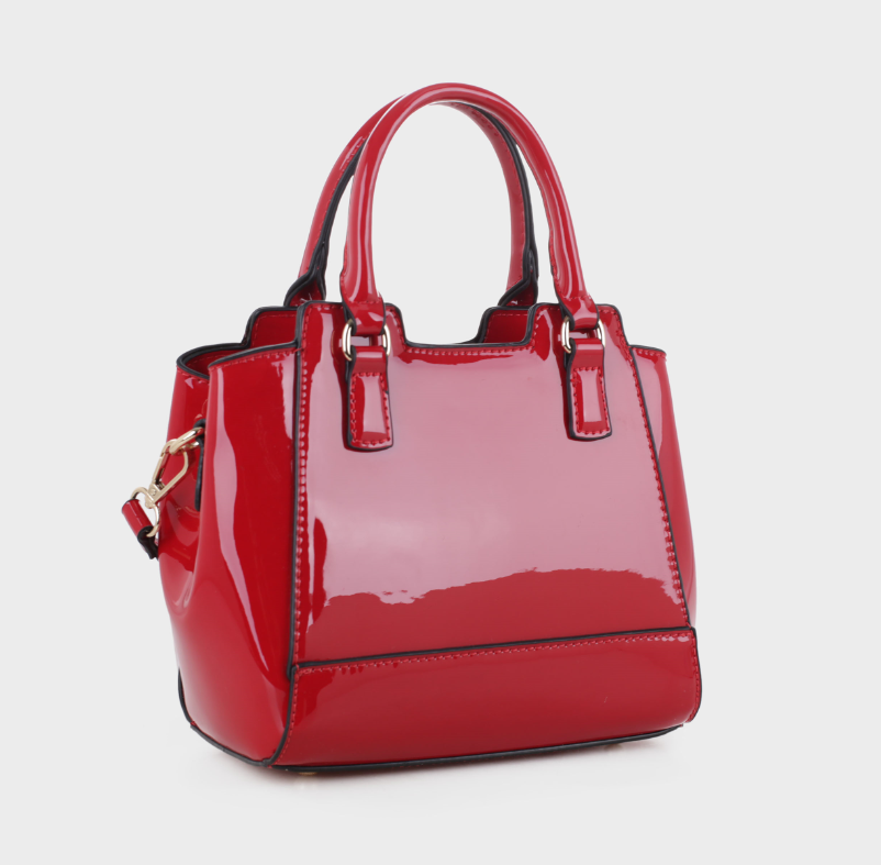 Leslie Mini Tote Red Patent