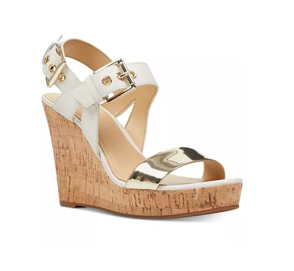 Nine West Scarlett White/Gold