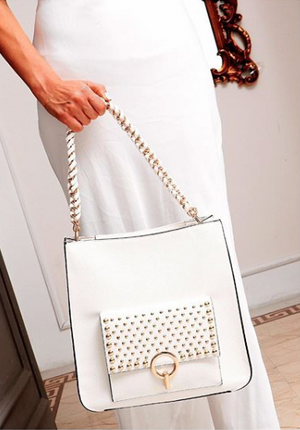 Madelyn Tote White