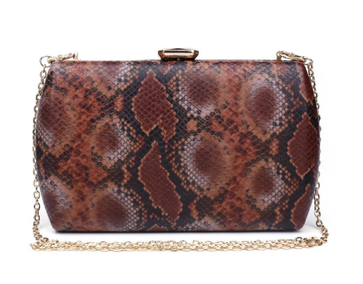 Nashville Large Clutch Chocolate Multi