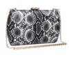 Nashville Large Clutch Black/White