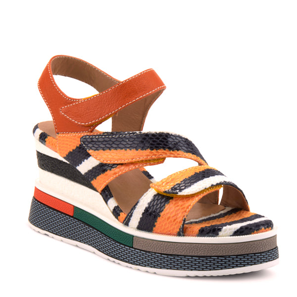 L'Artiste by Spring Step Akokomo Orange Multi