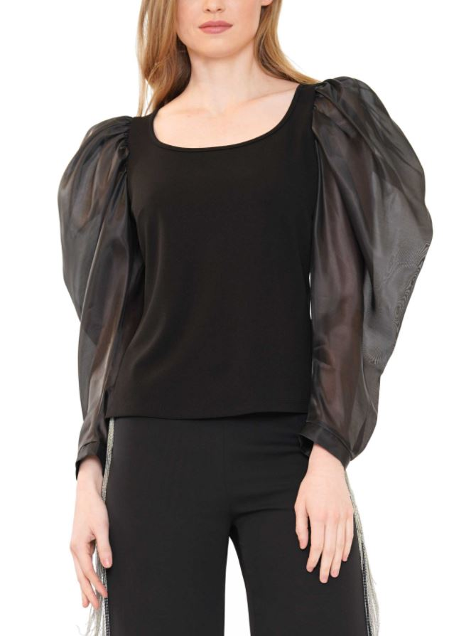 Devon Satin Puff Sleeve Top
