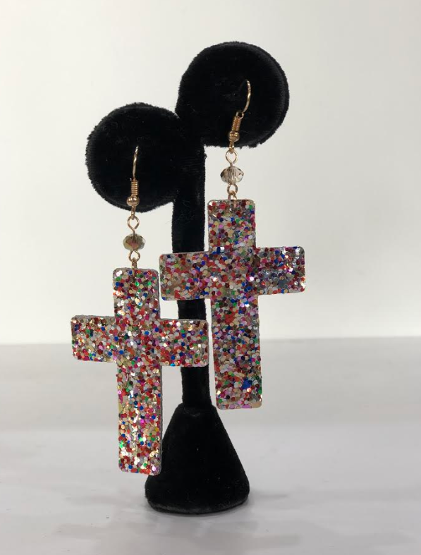 Crossy Earring Multi