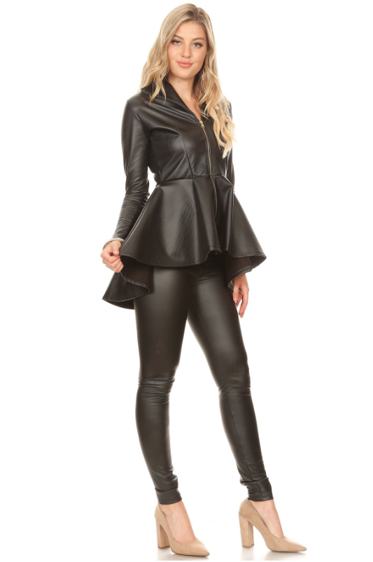 Camilla Set Black Leather
