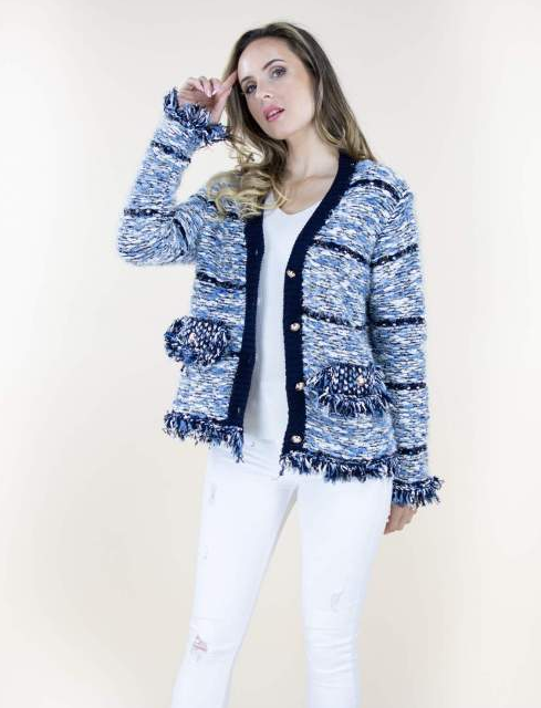 Penelope Cardigan Blue Multi
