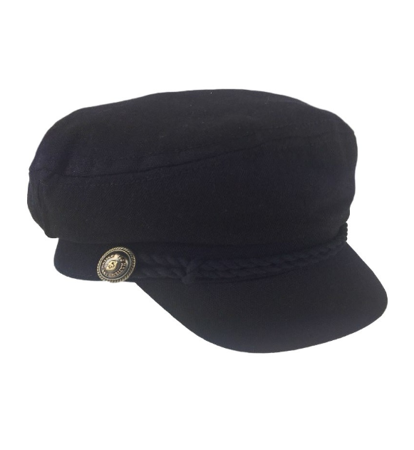 Canvas Captains Hat Black