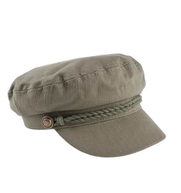 Canvas Captains Hat Olive
