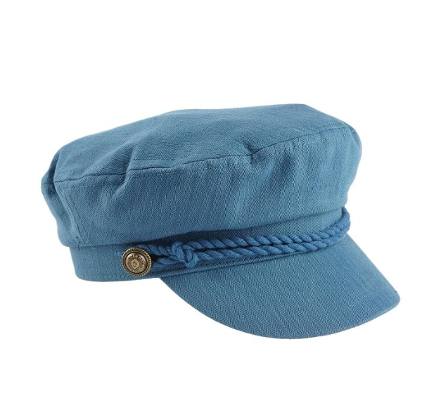 Canvas Captains Hat Turquoise