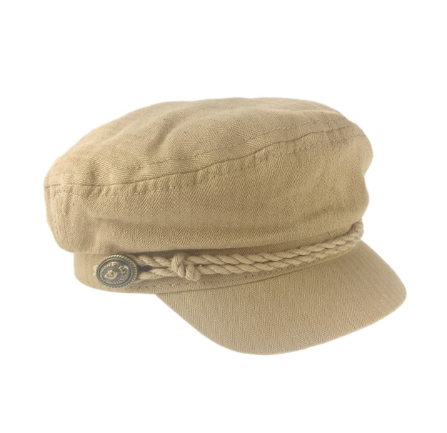 Canvas Captains Hat Tan