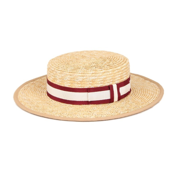 Straw Boater Hat Tan