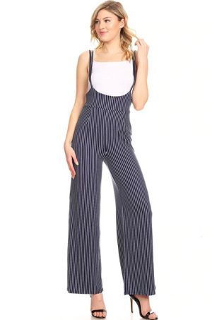 Overall Romper Navy/Ivory