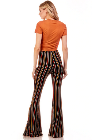 Aztec Flare Pant Black/Orange/Mustard
