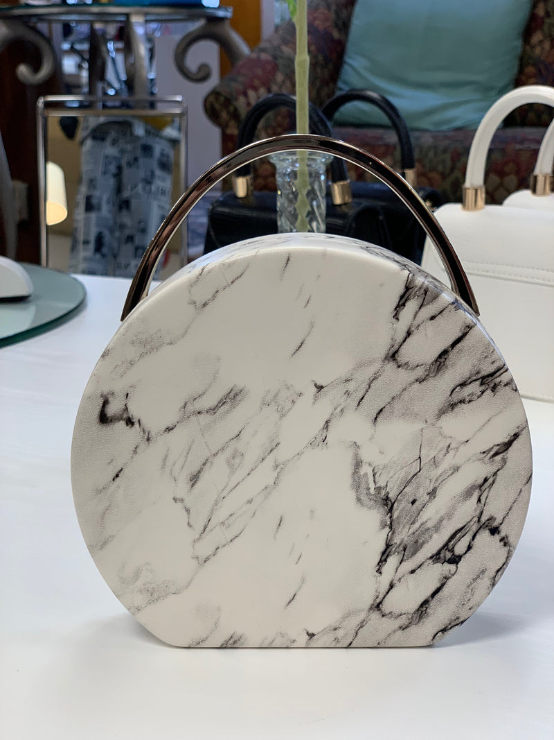 Aria Marbled Round Clutch