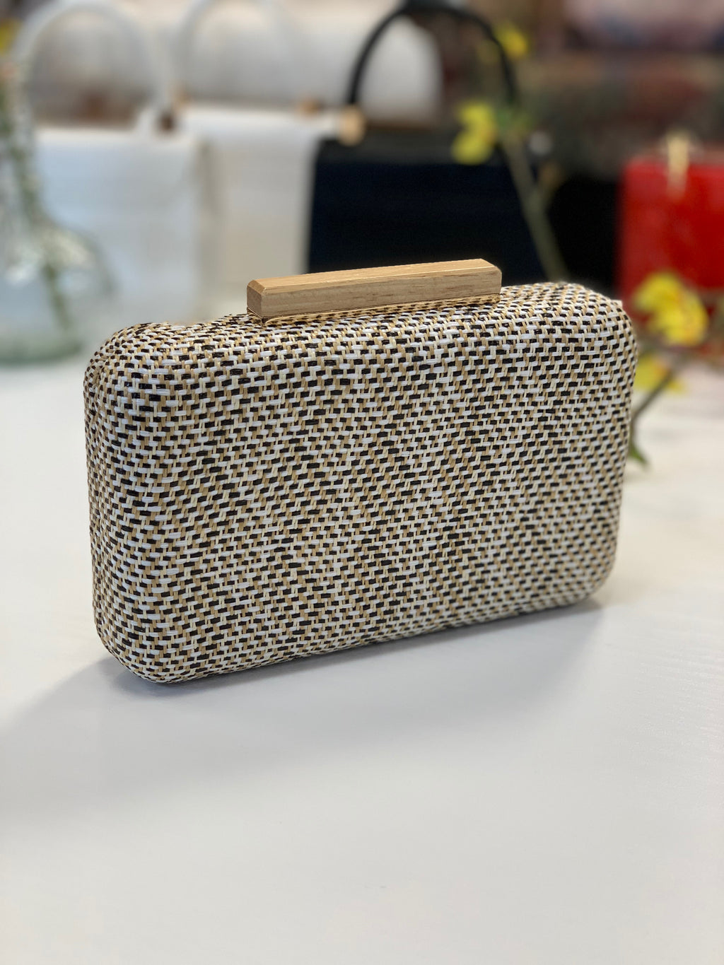 Cicley Woven Clutch Black