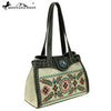 Montana West Embroidered Collection Tote Green