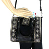 Montana West Embroidered Collection Tote/Crossbody Blk